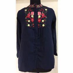 Ladies Casual Printed Shirt