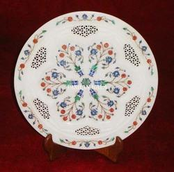 Inlay Marble Round Plate