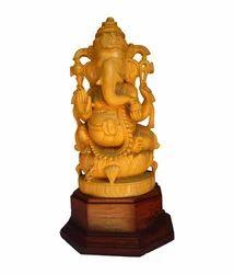 White Wood Ganesha
