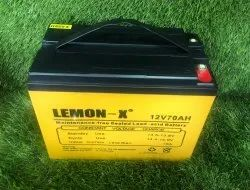 Lemon-X E-Tricycle Battery, Capacity: 12v 70ah, Voltage: 12v