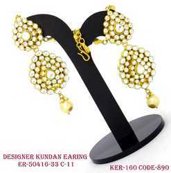 Kundan Earrings with Pearl Drops