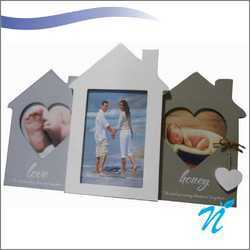 House Shaped Wooden Photo Frame