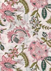 Hand Block Printed Voile Fabric