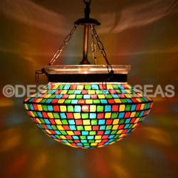 Colorful Mosaic Glass Hanging