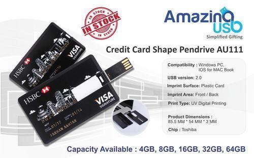 Credit Card Shape USB Pendrive