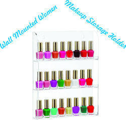Wall Mounted Nail Polish Holder, Cosmetic Rack Display Holder