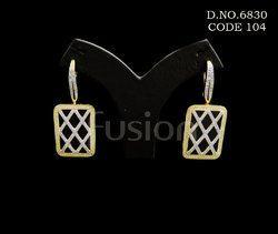 American Diamond Hanging Earrings