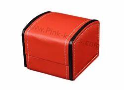 Leatherette Orange Watch Box