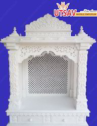 Carving White Jali Mandir