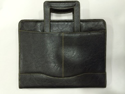 Executive Black Leather File Holder