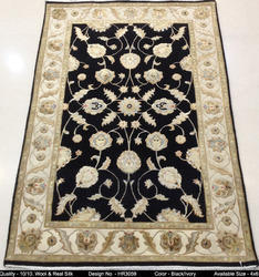 Hand Knotted Silk & Wool Carpet