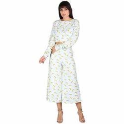 Banana Print Duo Set Dress