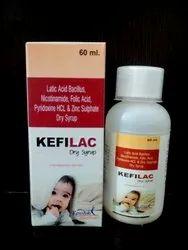 Lactic Bacillus,Nicotinamide,Folic Acid,Pyridoxine HCL,Zinc Sulphate Dry Syrup