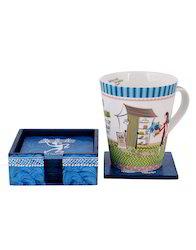 Denim Blue Tea Coaster