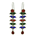 Exceptional 925 Sterling Silver Earring Enamel Jewelry