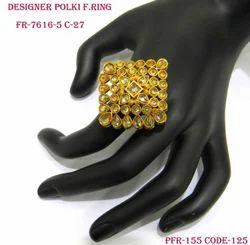 Square Diamond Antique Fancy Polki Finger Ring