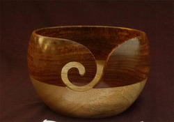 Mango - Sheesham 2 Tone Wood Yarn Bowl