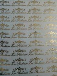 Gold Metal Sticker Sheet Service