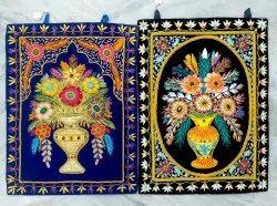 Velvet Flower Embroidery Hanging