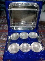Brass Tray Bowl Set