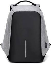 Caris Anti-Theft Laptop Travel Backpack with USB Plug Charging port 20 L (Grey)