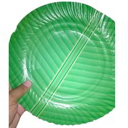 Green Disposable Paper Plate  sc 1 st  Trinayan Traders : disposable paper plates - pezcame.com