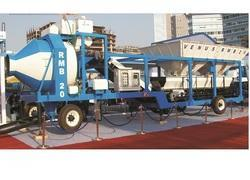 On Wheel Batching Plant With Reversible Mixer