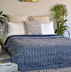 Hand Block Printed Kantha Bed Covers