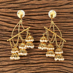 Antique Long Earring with gold plating 20206