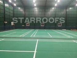 Indoor Badminton Court Roofing Work