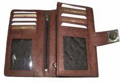 Brown Leather Ladies Wallet