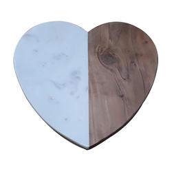 White Marble with Acacia Wood Chopping Board