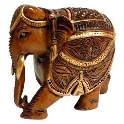 Wooden Black Finishing Elephant