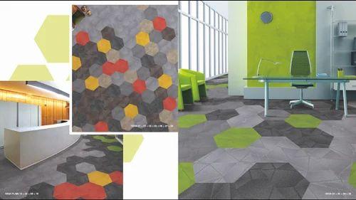 Tex Flor Hexagon Nylon Carpet Tiles