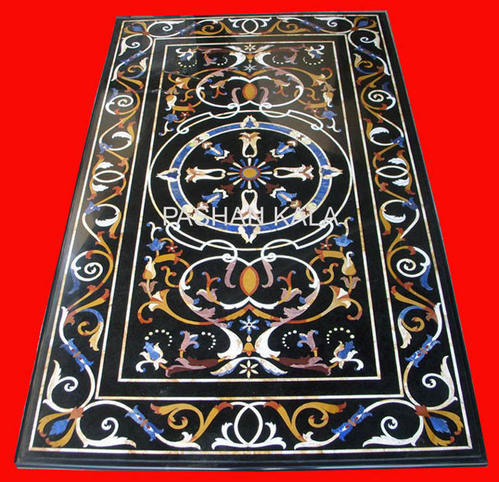 Marble Inlay Dining Table   Pietra Dura Dining Table Tops Wholesale Trader  From Agra