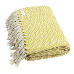 Yellow Throw Cotton Blankets