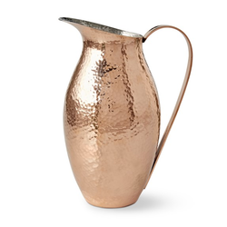 Copper Water Pitcher Hammered