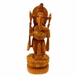 Wooden Standing Open Ganesha