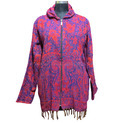 Acrylic Hooded Poncho Wool Hippy Festival Warm Cover Up