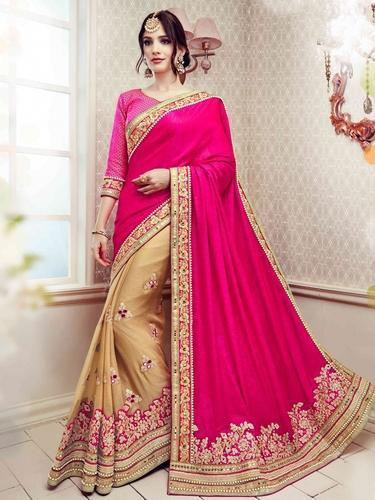 70e354ffe Designer Saree - Colour Trendz Rani   Chiku Slub Silk Traditional ...