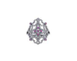 Ruby Gemstone Filigree Ring