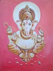 Ganesha Portrait Painting