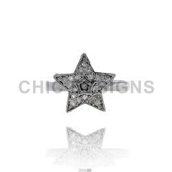 Designer Diamond Star Mid Ring