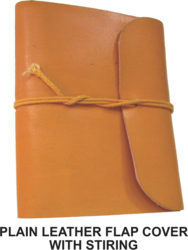 Journal Plain Leather Cover With Stiring