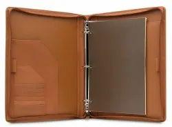 Leather Ring Binder Presentation Folder