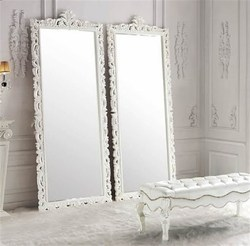 Crown Wooden Mirror