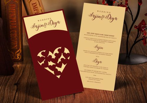 Invitations business cards single cards manufacturer from manjeri invitations business cards reheart Choice Image
