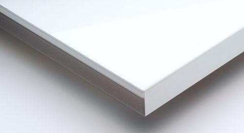 Laminated Boards Metallic White High Gloss Acrylic