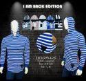 Men's Striped Hooded T-Shirt
