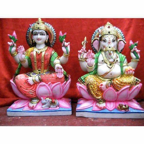 Marble Ganesh Lakshmi Statue Gauri Mahalaxmi Ganpati